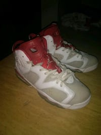 Red and white retro 6s Omaha, 68197