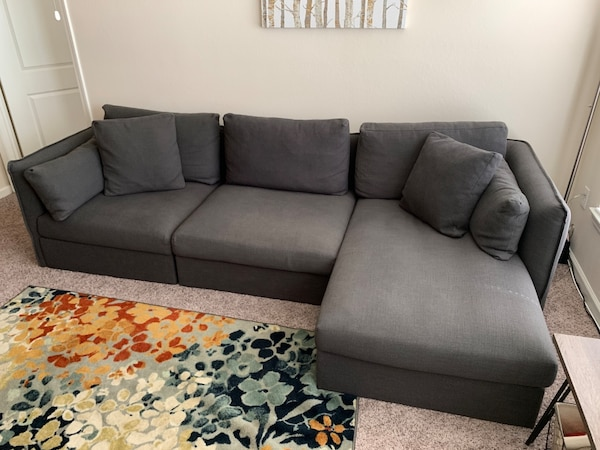Dark Gray Sectional Couch With Chaise