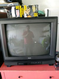 black CRT TV with remote Murrieta, 92562