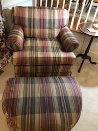 brown and white plaid fabric sofa chair Centreville, 20120