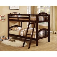 Brand New! Hardwood Solids twin/twin bunk bed on clearance  Edmonton, T5S 2J1