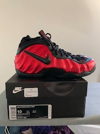 pair of red Nike Foamposite 1 Frederick, 21703