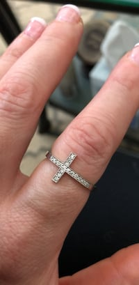White gold diamond cross ring Hampton, 23665