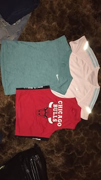 Two red and blue crew neck shirts Pulaski, 39152