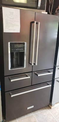 ON SALE! KitchenAid Refrigerator Fridge Black Stainless 5 Door #701 Stamford, 06901