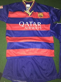 Qatar AirWays FCB jersey outfit
