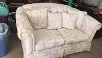 white and gray floral fabric loveseat San Antonio, 78237