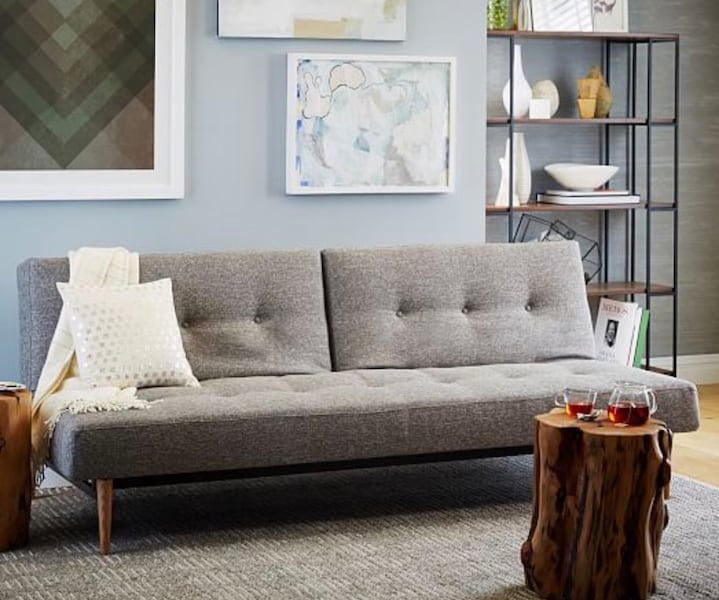 Mid century futon from West Elm 1e88d1bf-a7a2-4ada-8a52-33b4f01ef2ad