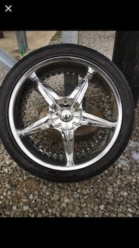 24inch rims & tires 5 lug  Washington, 20024