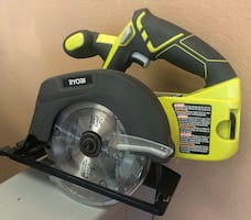Ryobi P505 18V Lith Ion Cordless Circular Saw Battery Not Included