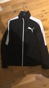 black and white Nike zip-up jacket Richmond Hill, L4C 0S4