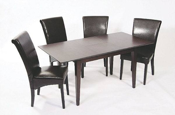 Brand New Solid Wood Dinning With Butterfly Extension 18 And Parson Chairs Free Delivery