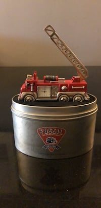 Fossil Fire truck clock with case. Yonkers, 10704