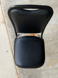 Black Padded Stacking Chairs (Six Available) Anaheim, 92808