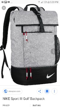 NIKE GOLF BACKPACK NEVER USED MINT CONDITION  Barrie