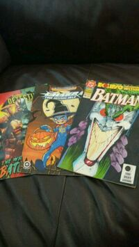 three DC comic books