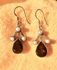 New! Smokey Topaz and Pearl Earrings on .925 Silver Setting. Were selling for $60 at our previous business. Very unique.  Smoke Free Home. Must be picked up in Port Hope. Please see my other ads   Port Hope, L1A 2V2