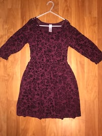 Cute formal burgundy lace dress girls size 10 Pomona, 91767
