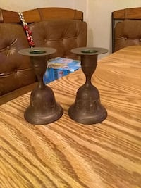 two brown ceramic candle holders Metairie, 70001