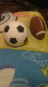 rubber football with a rubber soccer ball Waukegan, 60085