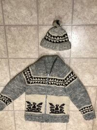 Handknit Sweater & Hat