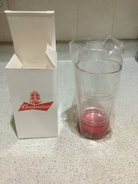 Budweiser light up Clear glass with box brand new Toronto, M6H 3S3