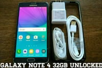 Galaxy Note 4 UNLOCKED 32GB w/ Accessories  Arlington