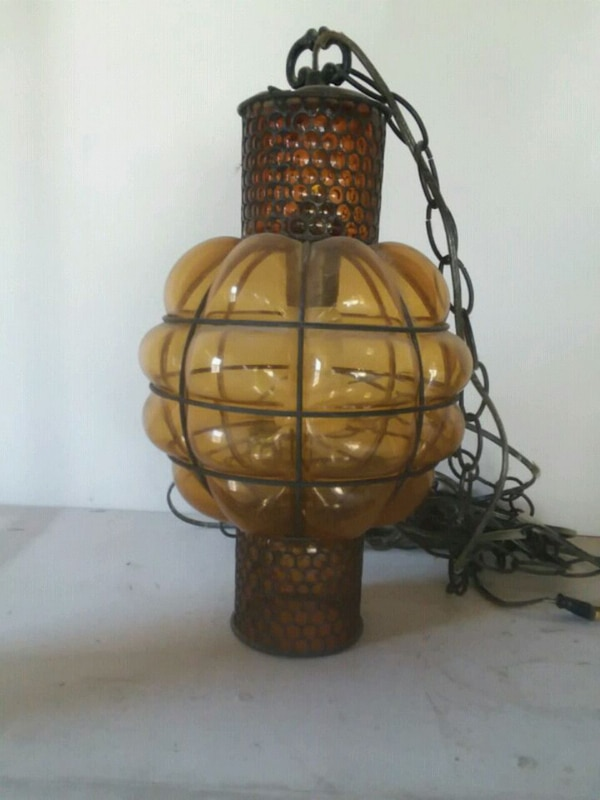 60's hanging lamp great condition