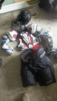 Kids hockey equipment  all good quality and brand