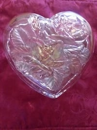 Beautiful Glass Heart Keepsake Box  Laughlin, 89029