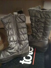 pair of black leather boots Bradley, 60915