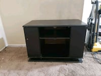 black wooden TV stand with cabinet Altadena, 91001
