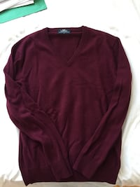 Men's V neck Burgundy Cashmere Sweater Toronto, M8Y 3R5