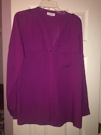 Purple Calvin Klein button up  Ashburn, 20147