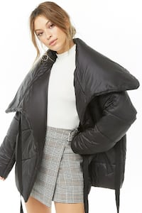 Wrap-Front Puffer Jacket - S Toronto