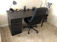 Desk and chair includes organizers and lamp Chesapeake, 23320