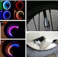 Wheel cap lights