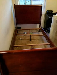 Twin Cherry wood bed frame Norwalk