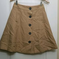 Tan button-up flannel skirt Ashburn, 20148