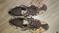 pair of brown-and-black Coach sneakers Vancouver, V5K 4P1