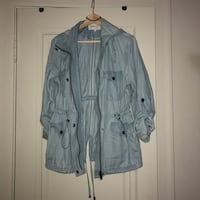 Blue denim long-sleeved zip-up coat Edmonton, T5J 1L1