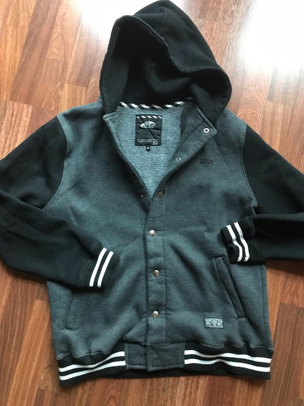 black button-up hoodie