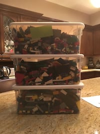 3 large Bins assorted LEGO pieces
