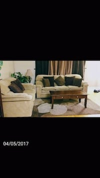 brown fabric sofa and love seat Toronto, M9W 2A2