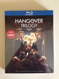 The hangover trilogy blu-ray disc case.