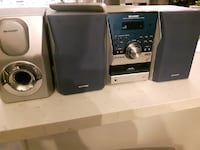 Sharp Bookshelf Stereo System with Subwoofer
