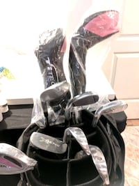 New!Ti tech, golf bag with clubs,complete with access-pink accents Old Town Manassas, 20111