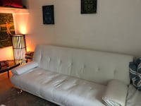 gray leather tufted 3-seat sofa Montgomery Village, 20886