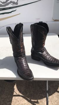 pair of black leather cowboy boots McAllen, 78504