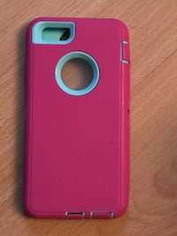 Pink/ teal iPhone 6's otter like case $8